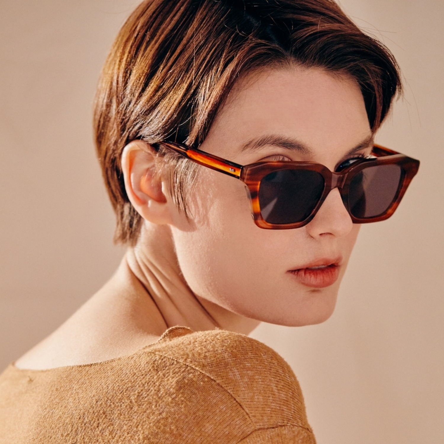 진저아이웨어 안경 My 74% Tiger brown GINGER EYEWEAR