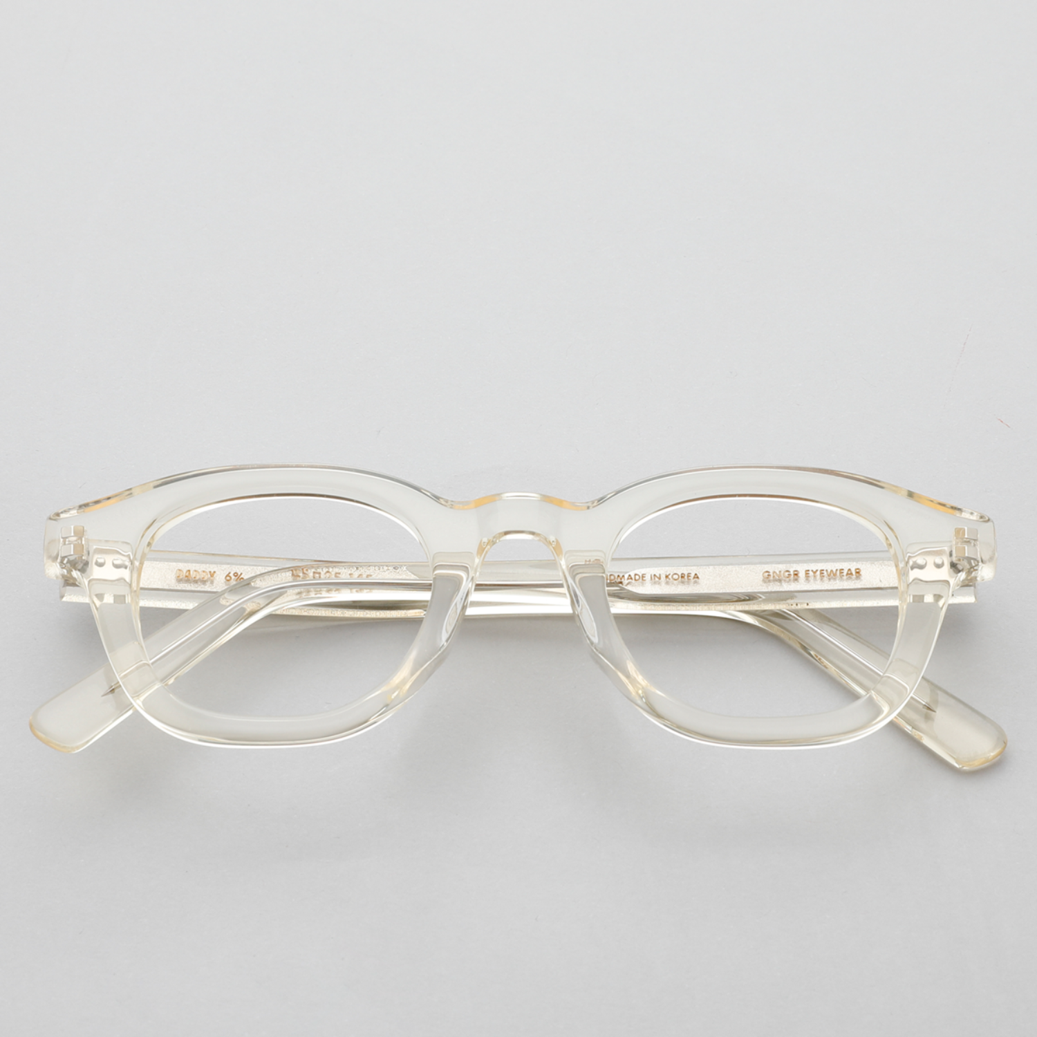 진저아이웨어 안경 대디 Daddy 6% Clear yellow GINGER EYEWEAR
