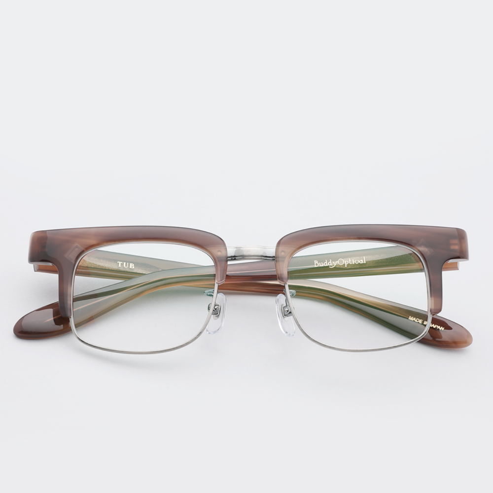 [버디옵티컬안경] 튜브 TUB BROWN MARBLE ANTIQUE SILVER (Buddy Optical)